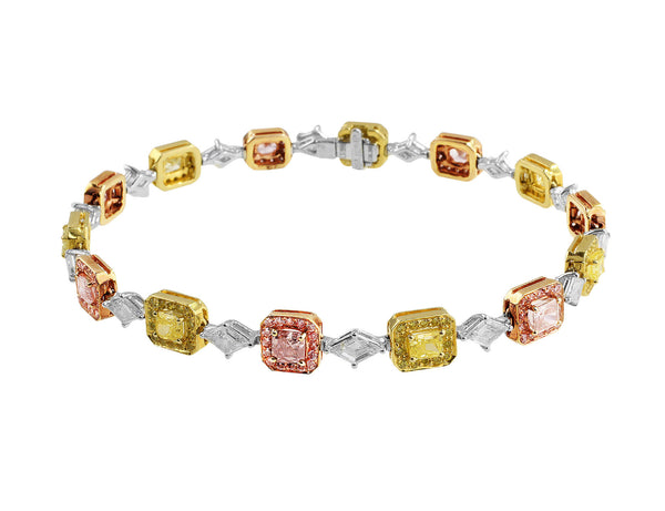 Radiant Colored Diamond Bracelet