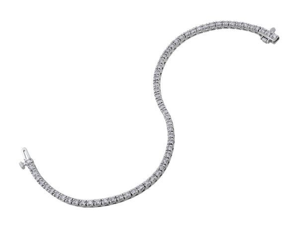 Estate 14kt White Gold Diamond Tennis Bracelet