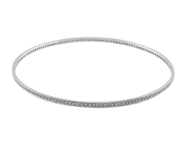 Estate 14kt White Gold & Diamond Bangle