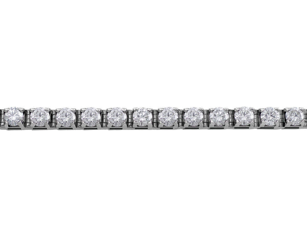 CJ Charles Riviera 14kt White Gold Diamond Tennis Bracelet