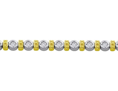 18kt White Gold & Diamond Bracelet