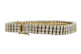 Estate Three Row Diamond Bracelet