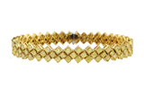 Estate Fancy Yellow Princess Cut Diamond Bracelet