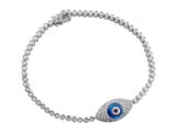 Evil Eye Pavé Diamond Bracelet