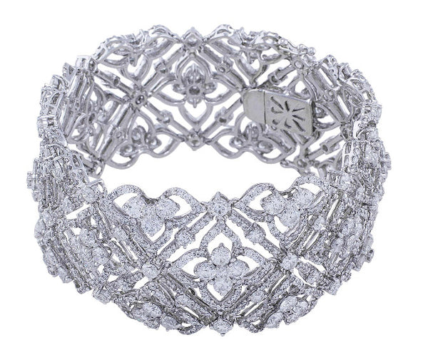 Wide Lace Diamond Bracelet