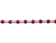 18kt White Gold Ruby & Diamond Tennis Bracelet