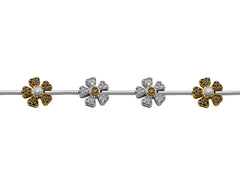 18kt White Gold Salavetti Flower Diamond Bracelet