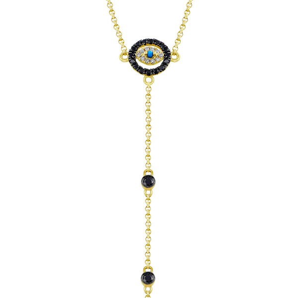 18kt Yellow Gold Evil Eye Bracelet