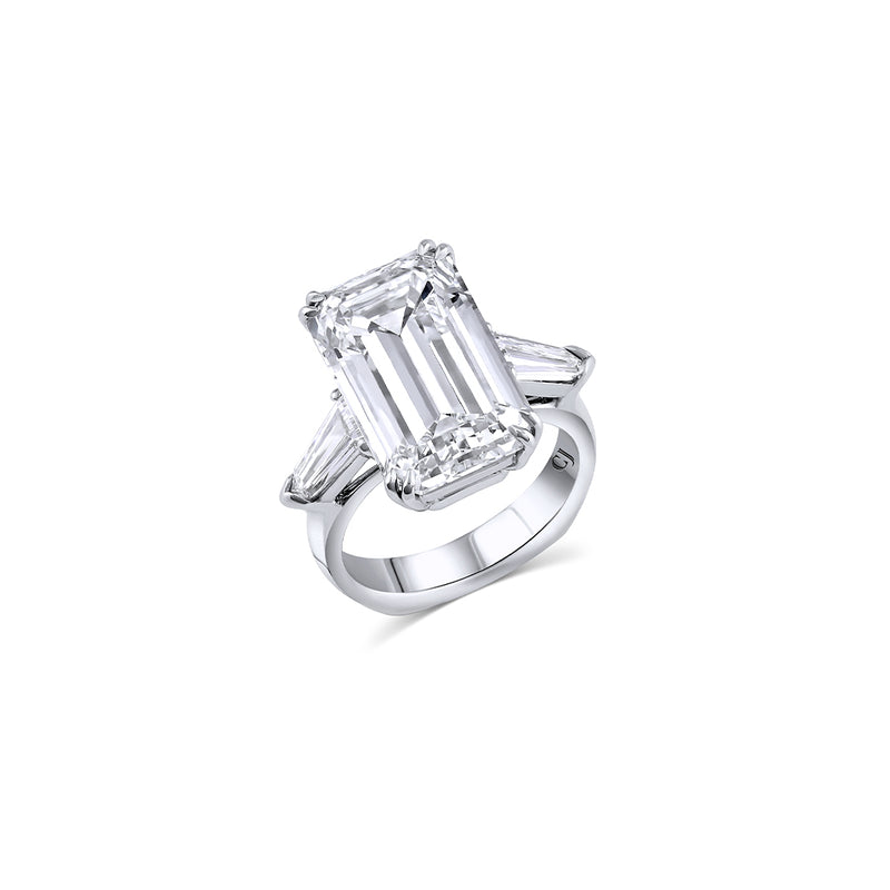 10.03ct Internally Flawless Emerald Cut Diamond Ring, GIA Certified