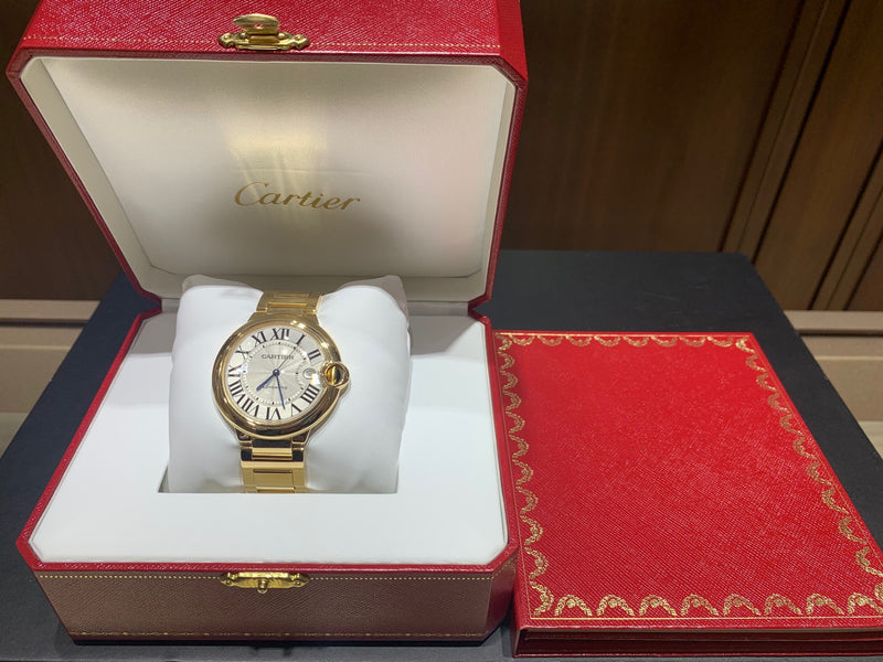 Cartier Ballon Bleu 42mm 18k Yellow Gold WGBB0023-Certified Pre-Owned