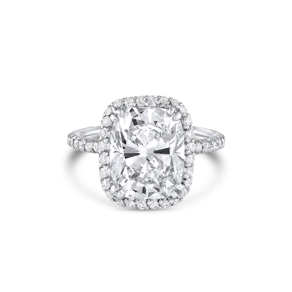 5ct Cushion Cut Diamond Ring