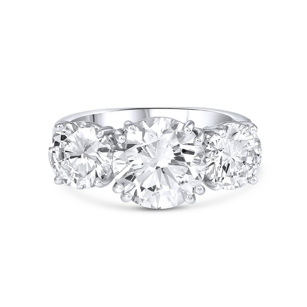 Three-stone Diamond Ring 4.71ct
