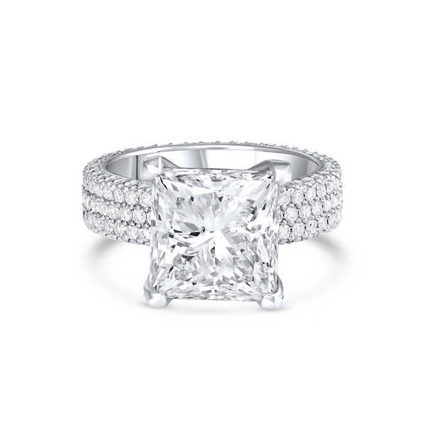 7ct Princess Cut Diamond Ring