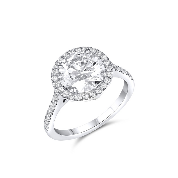 RIVIÈRE PLATINUM ROUND BRILLIANT CUT 2.51CT DIAMOND RING