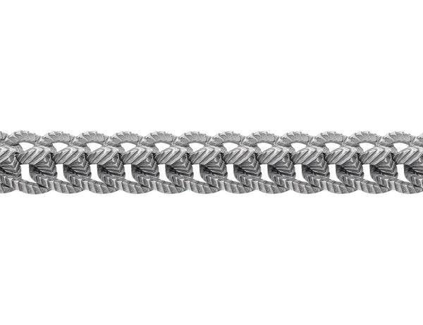 Stephen Webster Sterling Silver Engraved Rams Spine Bracelet