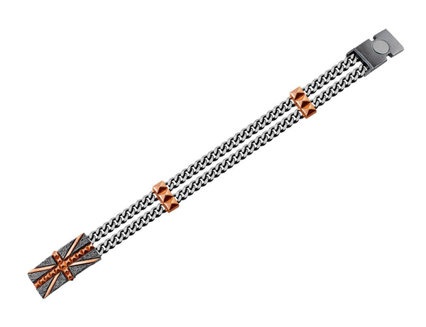 "Stephen Webster ""Union Jack"" Studded Chain Bracelet"