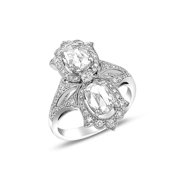 Double Rose Cut Diamond Ring
