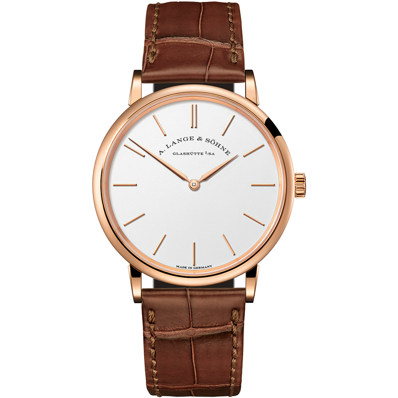 A. Lange & Sohne Saxonia Thin Pink Gold 37MM 201.033