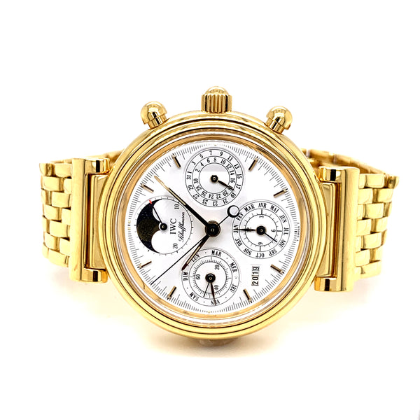 IWC Da Vinci Perpetual Calendar 18k Yellow Gold IWC3750 - Certified Pre-Owned