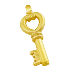 18kt Yellow Gold Key Pendant
