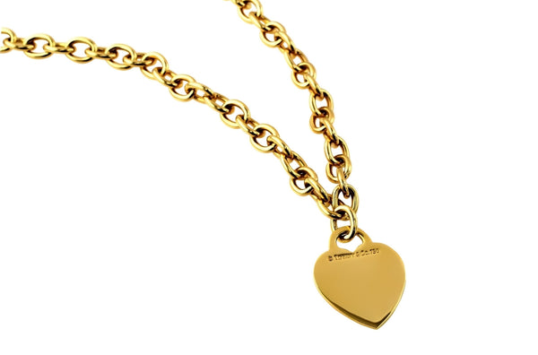 Tiffany & Co. Gold Heart Tag Necklace