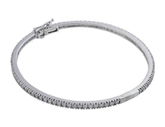 18kt White Gold Diamond Bangle