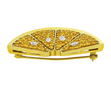 18kt Yellow Gold Diamond Lemon Pin