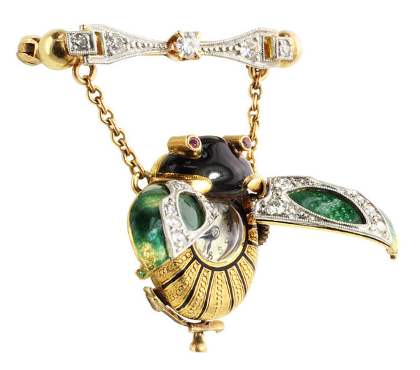 Keyless Beetle Antique Pendant Watch