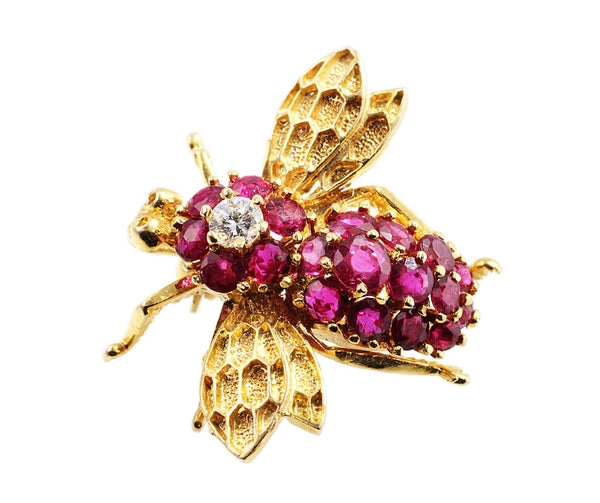 Ruby Fly Pin