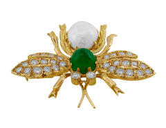 18kt Yellow Gold Wasp Brooch