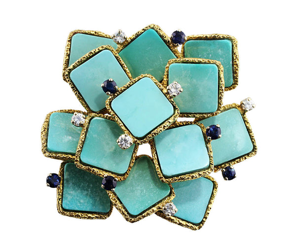 Estate Turquoise Brooch