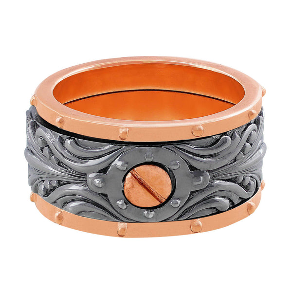 Stephen Webster Men's 18kt Rose Gold & Sterling Silver Band