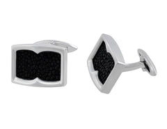 Stephen Webster Sterling Silver Stingray Inlay Cufflinks