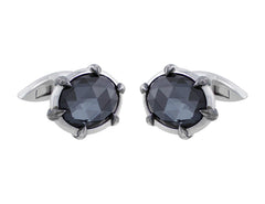 Stephen Webster Crystal Haze Hematite & Quartz CuffLinks