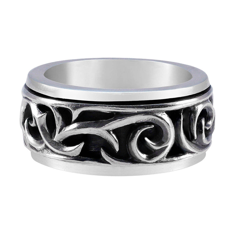 Stephen Webster Sterling Silver Thorn Rotating Band