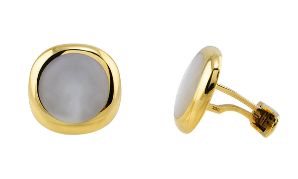 Gold Mother of Pearl Cufflinks