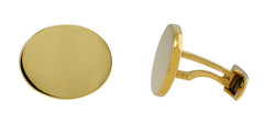 Yellow Gold Oval Cufflinks