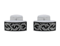 Stephen Webster Carved Thorn Sterling Silver Rectangular Cufflinks