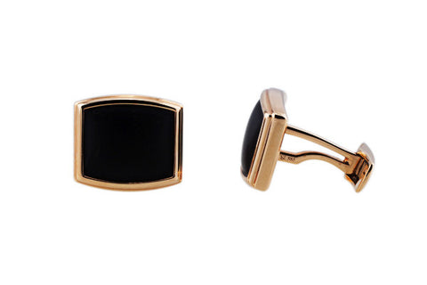 Onyx Rose Gold Cufflinks