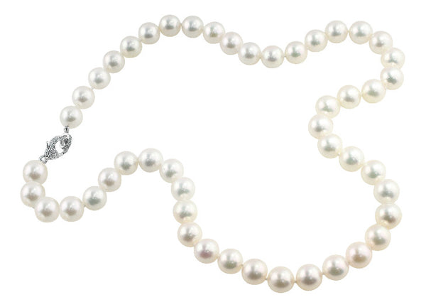 Cultured White Pearl Strand Necklace