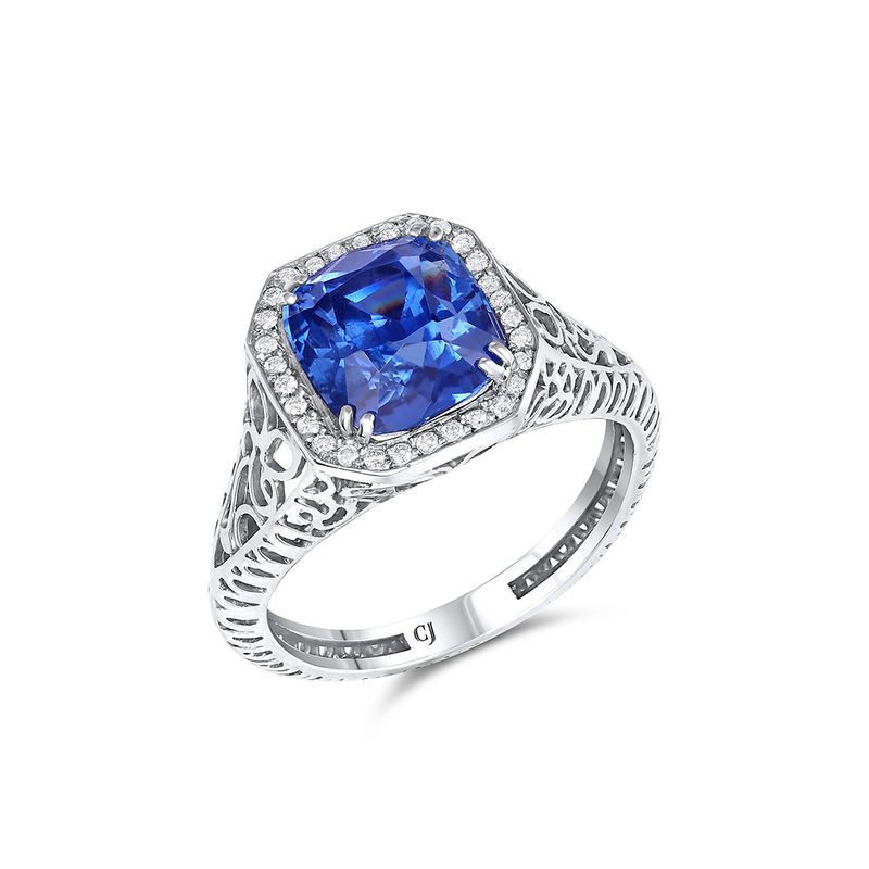 5.08CT Unheated AGL Certified Sapphire Ring