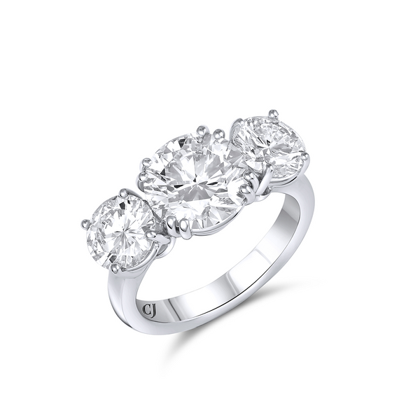 Rivière Three-stone Diamond Ring 4.71ct