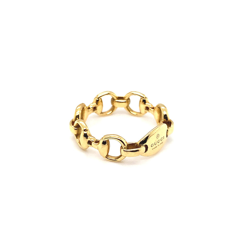 Gucci 18k Yellow Gold Horsebit Ring - Estate