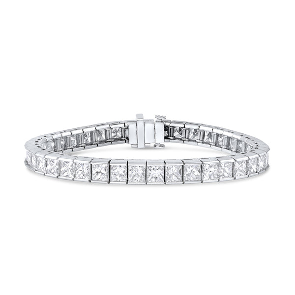 Tiffany & Co. Platinum Princess Cut Diamond Line Bracelet