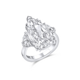 Rivière 6.34 ct Pear Shaped Diamond Ring