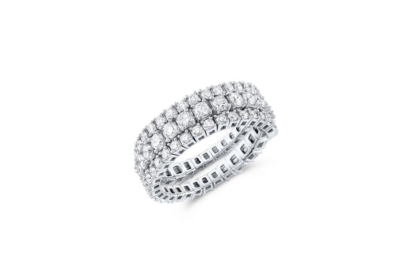 18KT WHITE GOLD FLEXIBLE SPIRAL RING 3 ROW