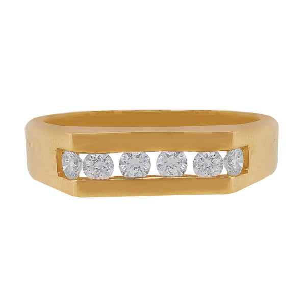 Men's 14k Rose Gold Diamond Band