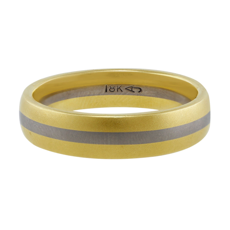 Estate A. Jaffe Men's Yellow Gold Band, Size 10