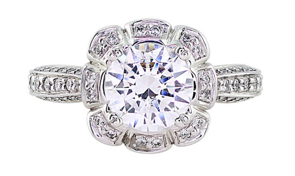 Ritani Floral Diamond Ring