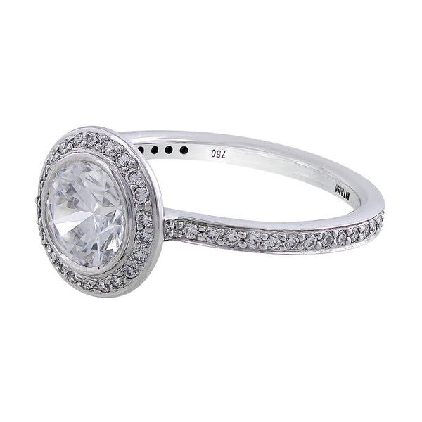 Endless Love Bezel Set Solitaire Diamond Ring